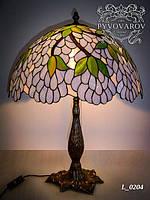 Светильник прикроватный из кусочков цветного стекла