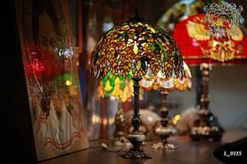 Светильник цветной Luxury из кусочков стекла по технике Тиффани