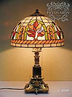 Торшер настольный из кусочков цветного стекла Тиффани