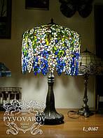 Luxury Настольная лампа Глициния ручной работы в стиле Тиффани