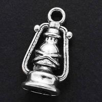 Кулон Керосиновая Лампа, Металл, Цвет: Античное Серебро, Размер: 15х11х6мм, Отверстие 3мм, (УТ000006557)