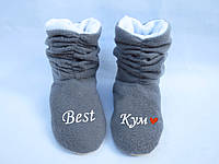 """Тапочки """"Семейные"""" ботинки Best Кум серо белые_склад 36-37"""