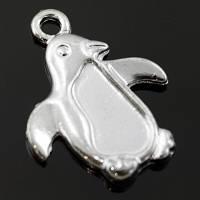 Кулон Пингвин Металл, Цвет: Серебро, Размер: 20х16х2мм, Отверстие 2мм, (УТ000006360)