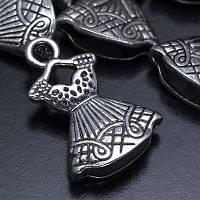 Кулон Платье, Металл, Цвет: Античное Серебро, Размер: 22х15х6мм, Отверстие 3мм, (УТ000005698)