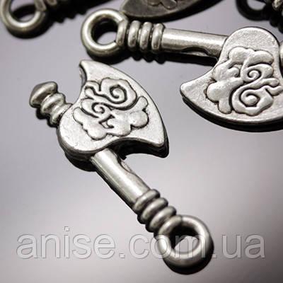 Кулон Топор, Металл, Цвет: Античное Серебро, Размер: 20х8х2мм, Отверстие 2мм, (УТ000006295)