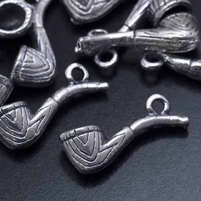 Кулон Трубка, Металл, Цвет: Античное Серебро, Размер: 20х6х7мм, Отверстие 2мм, (УТ0019056)