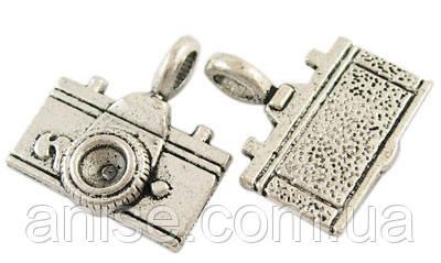 Кулон Фотоапарат, Метал, Колір: Античне Срібло, Розмір: 22х20х4мм, Отвір 3мм, (УТ000003419)