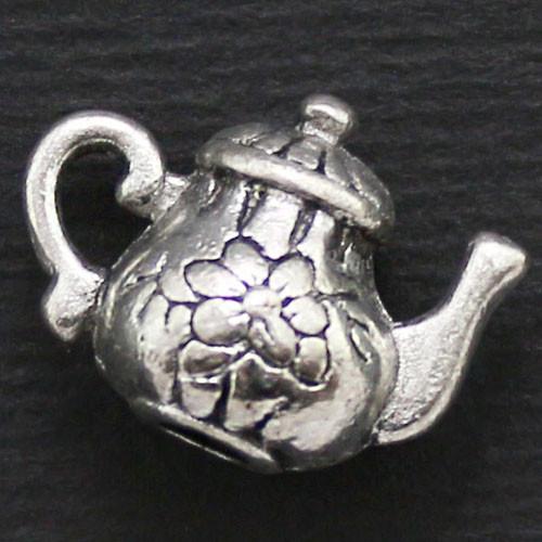 Кулон Чайник, Металл, Цвет: Античное Серебро, Размер: 13х15х8мм, Отверстие 2мм, (УТ000006657)