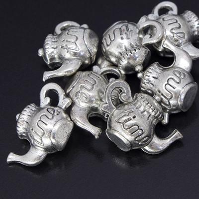 Кулон Чайник, Металл, Цвет: Античное Серебро, Размер: 17х12х8мм, Отверстие 1.5мм, (УТ000006468)