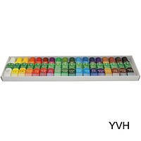 Краски акриловые набор 18 цветов 6 мл.
