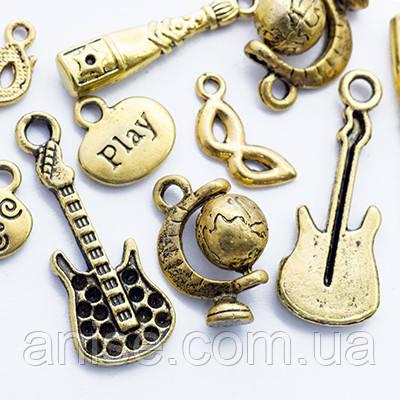 Кулоны Смешанные Темы Микс, Металл, Цвет: Античное Золото, Размер: Микс, (УТ0012720)