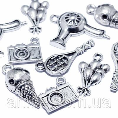Кулоны Смешанные Темы Микс, Металл, Цвет: Античное Серебро, Размер: Микс, (УТ0012708)