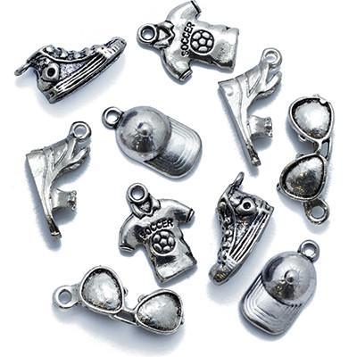 Кулоны Смешанные Темы Микс, Металл, Цвет: Античное Серебро, Размер: Микс, (УТ0013550)