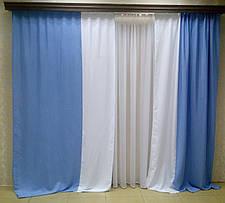 Шторы портьерные Шанзелизе Комби №6 (2 шторы), фото 3
