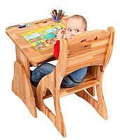 Детская мебель растишка. Парта растишка с ящиком и стул. р 160-1 + С300