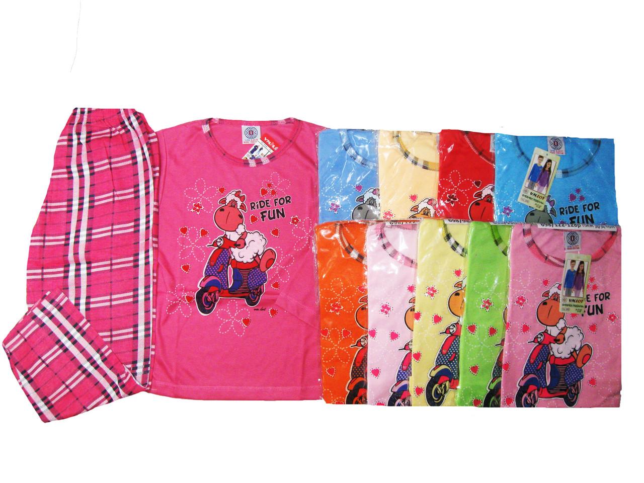 Пижама для девочек трикотажная, размеры  98/104-134/140, арт. 698