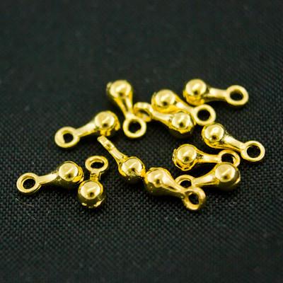 Утяжелитель для цепочек и ожерелий, Металл, Цвет: Золото, Размер: 7х2.5мм, Отв-тие 1.5мм, (УТ000004777)