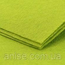 Фетр, Цвет: Зеленый, Длина 30см, Ширина 20см, Толщина 1мм, (УТ0002439)