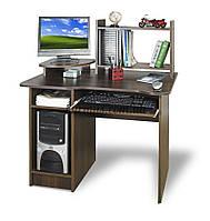 Компьютерный стол с полкой , СКМ-1, 95*65 орех тёмный