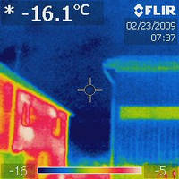 Съемка тепловизором