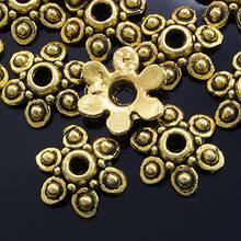 Шапочки для Бусин Металлические, Цветок, Цвет: Античное Золото, Размер: 10х3мм, Отверстие 1мм, (УТ0001819)