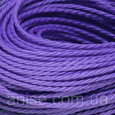 Шнур Вощеный Полиэстер, подходит для плетения браслетов, Цвет: Фиолетовый, Размер: Диаметр 1мм