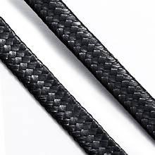 Шнур Вощеный Полиэстер, подходит для плетения браслетов, Цвет: Черный, Размер: Ширина 5мм, Толщина 1мм, около 45мкатушка (УТ0003475)