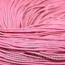 Шнур Вощеный Хлопковый, Цвет: Розовый, Размер: Толщина 1.5мм, около 80м/связка, (УТ000003951)
