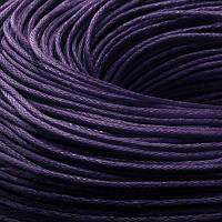 Шнур Вощеный Хлопковый, Цвет: Индиго, Размер: Толщина 1мм, около 80м/связка, (УТ0003480)