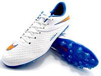 Футбольные бутсы Nike Hypervenom Phelon AG White/Blue, фото 1