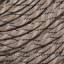Шнур Паракорд Нейлоновый подходит для плетения браслетов, Цвет: Бежевый, Размер: Ширина 4мм, 100м/связка, (УТ0016946)