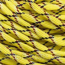 Шнур Паракорд Нейлоновый подходит для плетения браслетов, Цвет: Желтый, Размер: Ширина 4мм, 100м/связка, (УТ0016948)