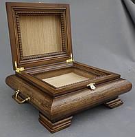 Ковчег их ольхи для хранения Святых мощей