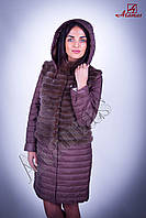 Меховая куртка-трансформер из норки коричневая DW006-2 Размер: 50