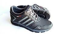 Мужские кожаные кроссовки Adidas Clima 850 black, фото 1