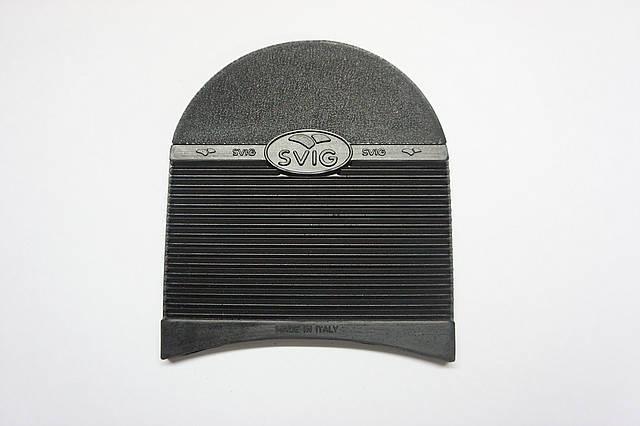 Набойка резиновая SVIG №425 р.4 т. 7,0 мм.  чер. (Италия), фото 2
