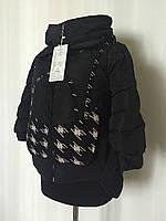 """Женская укорченная куртка """"гусинные лапки"""""""