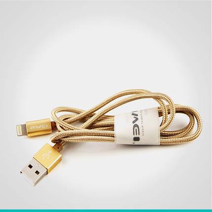 USB кабель Awei с разъемом Lightning 1 м, фото 2