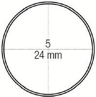 Зеркало стоматологическое плоское № 5 не увеличивающее диаметр 24 мм, Medesy 4903/5