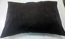 Подушка однотонная Софт Венге, размер 50х70см (наволочка+подушка), фото 2