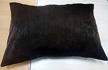 Подушка однотонная Софт Венге, размер 50х70см (наволочка+подушка), фото 3