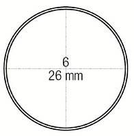 Зеркало стоматологическое плоское № 6 не увеличивающее диаметр 26 мм, Medesy 4903/6