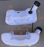 Топливный бак к мотокосе (горловина с боку)