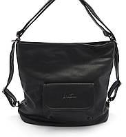 Объемная женская черная сумка-рюкзак  Б/Н art.81037, фото 1