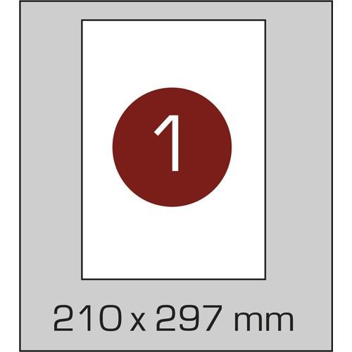 Самоклеющаяся бумага А4 (210х295 мм), 100 листов в картонной упаковке