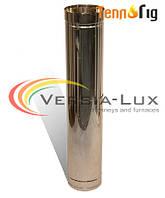 Труба-удлинитель для дымохода двустенная (сэндвич) нерж/нерж 0,8 мм