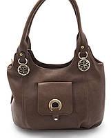 Вместительная женская сумка кофейного цвета Б\Н art. C-01, фото 1