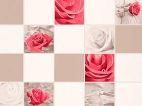 Обои, на стену, яркий рисунок, розы, бежевый, виниловые,В49,4 Алмаз 5507-01,супер мойка, 0,53*10м, фото 2