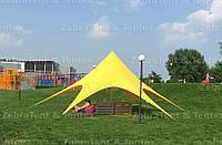 Шатер, тент Звезда, 10 метров, желтый. Тент для отдыха