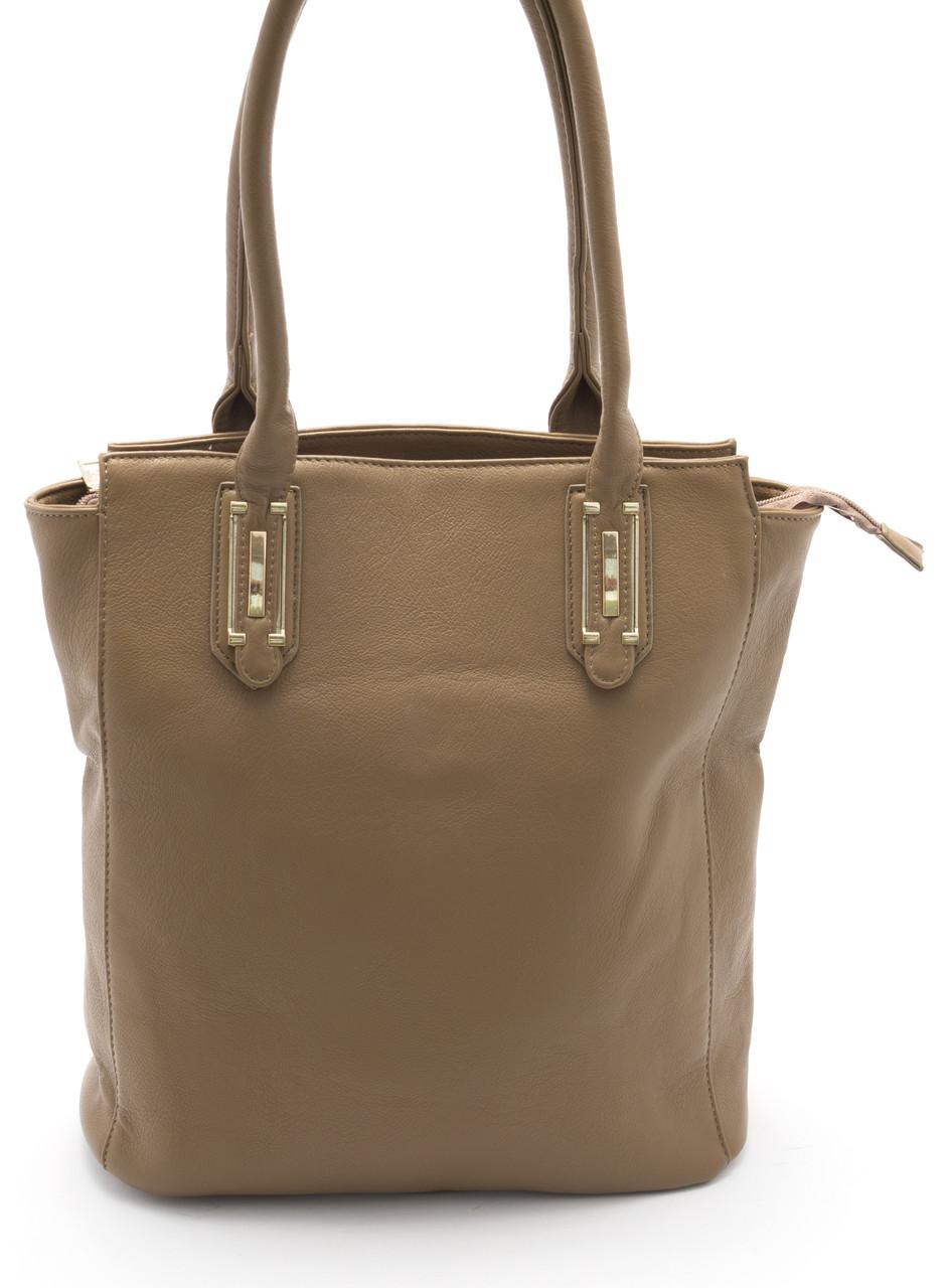 Симпатичная женская сумка светло коричневого цвета Б/Н art. 9042